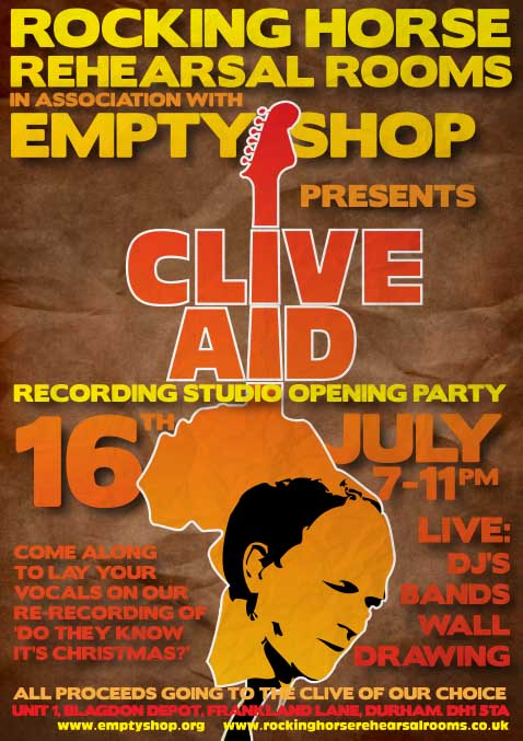 Clive Aid Flyer
