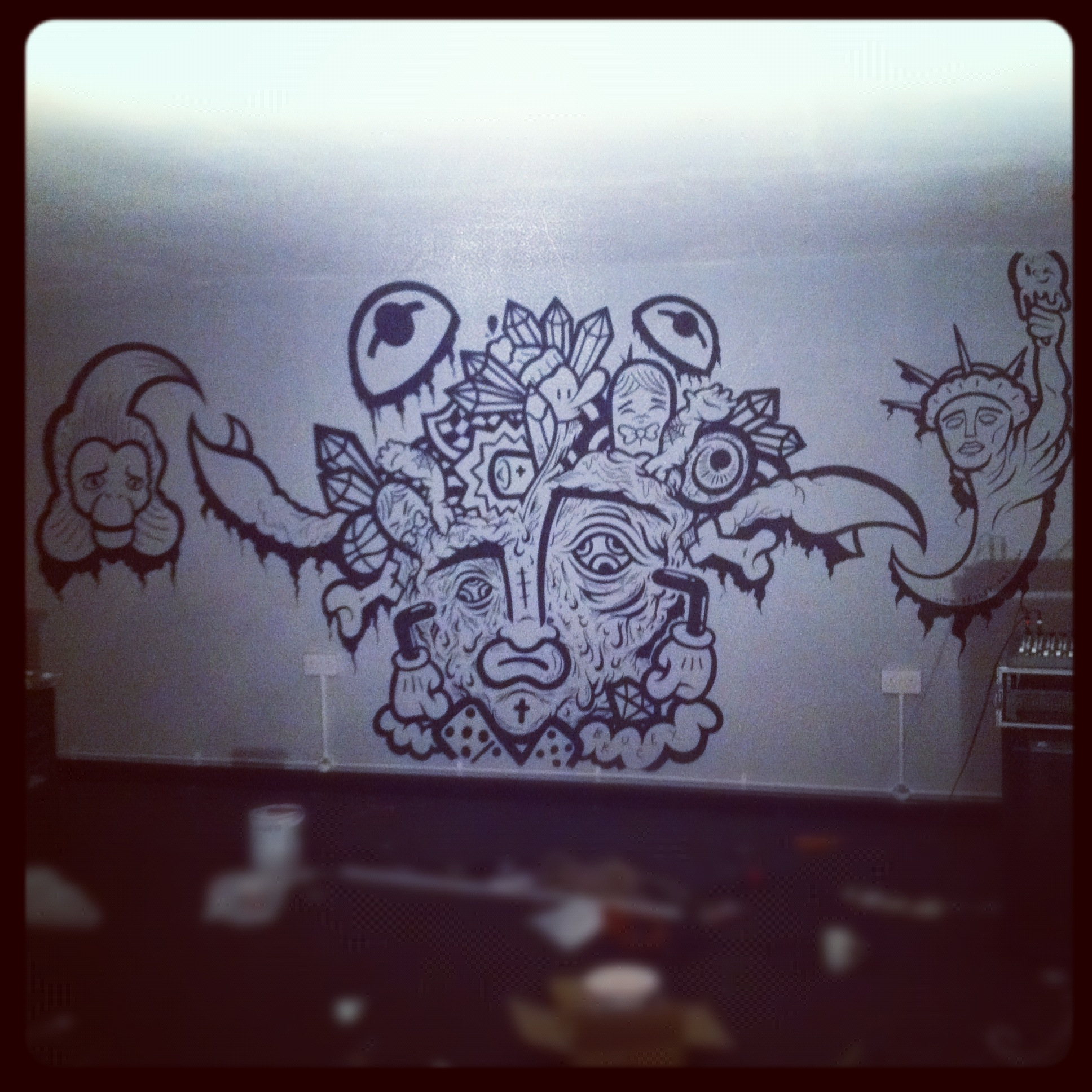 Room Wall Drawings Brucey Wall Drawing in
